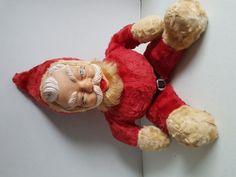Vintage Stuffed Plush Christmas Santa 17 Inch with Rubber Face Sale On, Plush, Santa, Face, Christmas, Ebay, Vintage, Xmas, The Face
