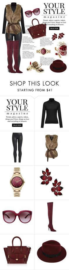 """Burgundy."" by hunnycakes ❤ liked on Polyvore featuring Pussycat, Hahn, The Row, WithChic, Karl Lagerfeld, Bottega Veneta, Kendall + Kylie, Henri Bendel and Sans Souci"