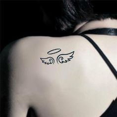 angel wings shaped heart tattoos - Google Search