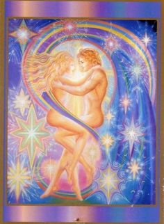 Beautiful Art by Catherine Andrews Tantra, Twin Flame Love, Twin Flames, Love Art Images, Twin Flame Reunion, Flame Art, Love Connection, Twin Souls, Soothing Colors