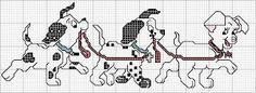 ENCANTOS EM PONTO CRUZ: 101 Dálmatas Disney Stitch, Lilo E Stitch, Stitch Cartoon, Stitch Character, Winne The Pooh, Disney Cross Stitch Patterns, Cross Stitch Baby, Crochet Chart, Animal Crafts
