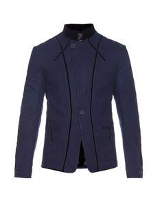 HAIDER ACKERMANN Wool And Velvet Jacket. #haiderackermann #cloth #jacket