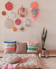 Girl Bedroom Designs, Room Ideas Bedroom, Diy Room Decor, Bedroom Decor, Wall Decor, Indian Room Decor, Ethnic Home Decor, Boho Decor, Home Room Design