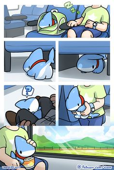 Adorable Shark Puppy Comics Is The Best Thing You See Today Cute Animal Drawings, Kawaii Drawings, Cute Drawings, Pet Shark, Baby Shark, Baby Animals, Cute Animals, Train Drawing, Beste Comics