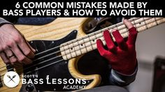 6 Common Mistakes Made by Bass Players and How to Avoid Them. I love Scott's Bass Lessons Learn Bass Guitar, Acoustic Bass Guitar, Bass Ukulele, Bass Guitar Lessons, Learn To Play Guitar, Guitar Tips, Music Guitar, Music Lessons, Cool Guitar