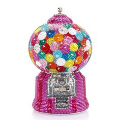 Gumball Machine Minaudiere Clutch Bag by Judith Leiber Couture at Neiman Marcus Judith Leiber, Bergdorf Goodman, Unique Purses, Unique Bags, Beautiful Handbags, Unique Handbags, Gumball Machine, Cute Bags, Metallic Leather