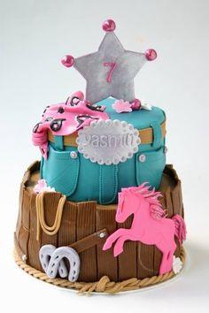 Little cowgirls birthday cake horse lover