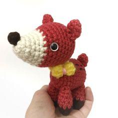 Baby Rattle Amigurumi Deer Bumbi Crochet Deer by AmiAmiGocco