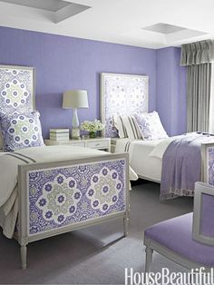 Purple Twin Bed Bedroom