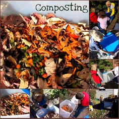 composting with a storage bin and teaching kids how to compost