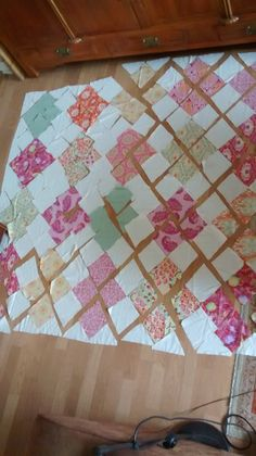 Japanese jigsaw quilt ready to be sewn