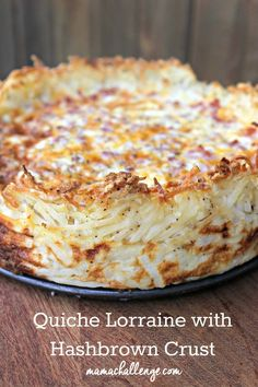 Lorraine with Hashbrown Crust Prefer a crustless quiche, but still need a crunch? Use hashbrowns for this perfect Easter brunch recipe from .Prefer a crustless quiche, but still need a crunch? Use hashbrowns for this perfect Easter brunch recipe from . Breakfast And Brunch, Breakfast Quiche, Breakfast Dishes, Breakfast Recipes, Sunday Brunch, Breakfast Casserole, Breakfast Ideas, Sunday Morning, Best Brunch Recipes