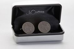Vintage 1957 Sixpence Cufflinks for Mens Birthday Gift Present in 2017 for sale