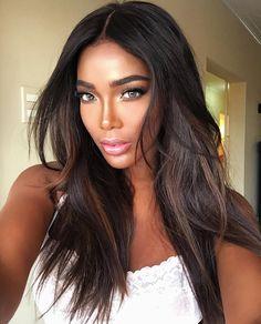 beautiful woman - dark brown hair - light eyes