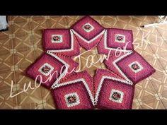 TAPETE ESTRELA EM CROCHE COM PAP / Um lindo tapete com um efeito maravilhoso / Cristina coelho alves - YouTube