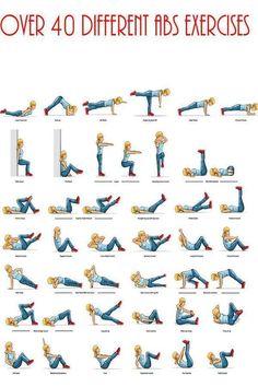Más de 40 ejercicios abdominales diferentes