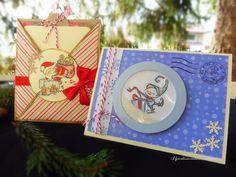 Il giardino incantato di Alice: Criss Cross card & Shaker card