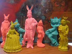 Slip cast ceramic art toys