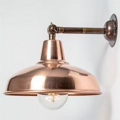 Maria Banjo Industrial Vintage Adjustable Copper Wall Light