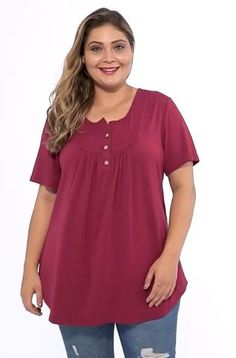 Plus Size Blouses, Plus Size Tops, Plus Size Shirts, Kurta Designs Women, Blouse Designs, 60 Fashion, Plus Size Fashion, Casual Tops For Women, Blouses For Women