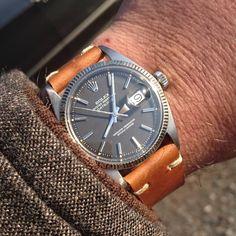 """""""朝から快晴☀です。今日は良い天気で暖かくなる予報です。これから用事を済ませに行動開始。 #oysterperpetual #rolex1601 #1601 #datejust 65...serial 60s"""" Rolex Datejust, Omega Watch, Rolex Watches, Accessories, Ornament"""