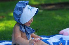 beaufort bonnet with monogram