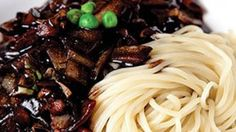 jajangmyun-make it vegan by substituting tofu or omitting the protein all together