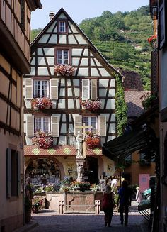 Alsace, France--where they speak French with German accents (Not kidding! Learned about it in French class in high school!)