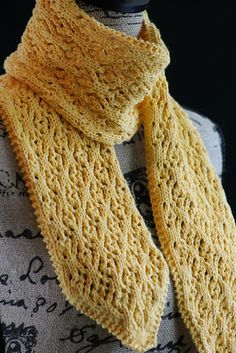 free Ravelry: Floral Mesh Scarf pattern by Gretchen Tracy