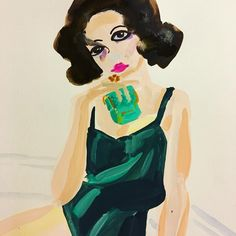 Marc Jacobs Divine Decandence Illustration by Marianne McGinnis