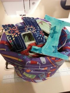 Another bucket of fabric letters