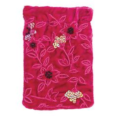 The gorgeous new multi-media pouch is the most luxurious way to keep your i-phone, mobile or camera safe, stylishly. Mobile Cases, Pink Silk, Linens, Bag Accessories, Pouch, Sequins, Velvet, Phone, Bags