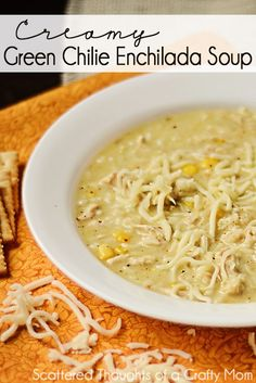 Creamy Green Enchilada Soup.  Just wait until you try it!  #slowcooker #Recipes #Soup