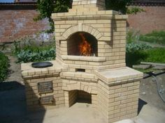 барбекю - Поиск в Google Diy Pizza Oven, Earthship, Future House, Barbecue, Architecture Design, Backyard, Exterior, Fire, Places