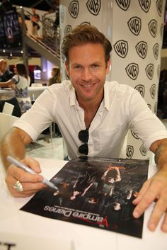 "Warner Bros. At Comic-Con International 2014  SAN DIEGO, CA - JULY 26: In this handout photo provided by Warner Bros, Matt Davis of ""The Vampire Diaries"" attends Comic-Con International 2014 on July 26, 2014 in San Diego, California. (Photo by Michael Yarish/Warner Bros. Entertainment Inc.)"