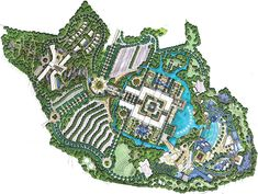 Landscape Architecture, Landscape Design, Architecture Design, Family Resorts, Hotels And Resorts, Plan Sketch, Master Plan, Urban Planning, Plan Design