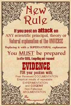 Demand a level playing field…A rational understanding of reality requires reliable/verifiable evidence…!