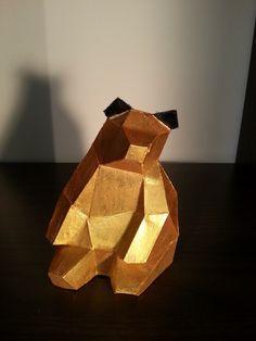 Goldbär aus Beton von Beton & Form auf DaWanda.com