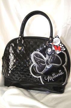 Loungefly Disney Micky Minnie Mouse Metallic Black Sequin Satchel Purse Bag NWT #LoungeflyDISNEYPURSE #MINNIEMOUSESatchel