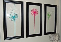 Dandelions Set of 3 Wall Decal You Pick Colors by KreativeCorner, $15.50
