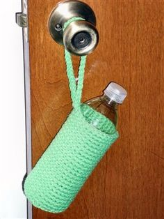 Water Bottle Cover - Crochet Me-  like this one but want the large strap...