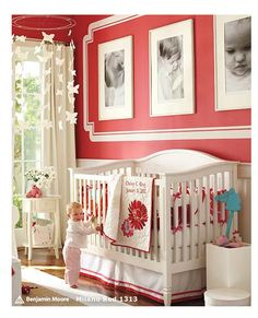 love the colors and 3 big pictures above crib.