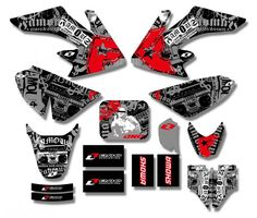 New Style TEAM GRAPHICS&BACKGROUNDS DECAL STICKERS Kits For Honda CRF50 STYLE Pit Dirt bike(Black/White) #Affiliate