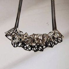This sterling silver voronoi pendent is light yet structural with a double patina black sterling silver chain. available through our online store. Visit http://ift.tt/1LJWFK2 or email enquiries@studionoesis.com.au for orders.  #jewellery #jewelry #design #geometry #beautiful #silver #sculpture #art #architecture #fashion #fashionary #instagram #instagood #3dprint #3dprinting #prototype #unique #framework #construction #canon #photo #photography #studio #bespoke #unique #instadaily #instalike…