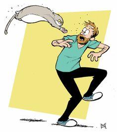 E se o criador de Hora de Aventura recriasse situações emulando traços de grandes desenhistas? Ah, junto com seu gato!
