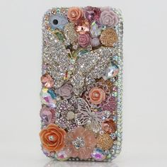 3D Swarovski Crystal Diamond Silver Butterfly Bling Case Cover for iphone 5 (100% Handcrafted by BlingAngels) by BlingAngels. $79.95. Unique Design & Superb Quality that you will NOT find elsewhere! GUARANTEED! Materials: Mix of 100% Authentic Swarovski Crystals + High quality *Bling* Australian Crystals + Special Made Accessories / Decors 100% Handmade: THIS ITEM IS 100% CUSTOM HANDMADE BY A PRO ARTIST WITH 5+ HOURS OF WORK! NOT made by Home DIY Amateurs. How to put them ...