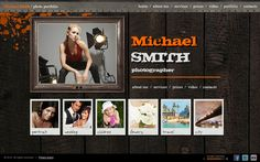 Retro Photographer HTML5 Template by Dynamic Template