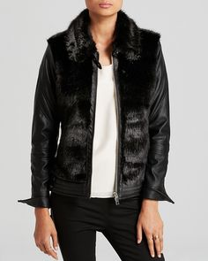 Blank NYC BLANKNYC Jacket - Exclusive Faux Leather and Faux Fur on shopstyle.com