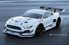 Brutale Pixelstudie: Der Ford Mustang Shelby GT350 R als radikaler Rennbolide