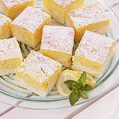 Lemon Ricotta Cheesecake Squares...I've got 2 lbs of Simply Ricotta in my freezer, calling my name! :)
